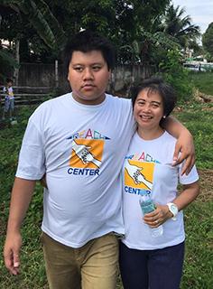 Sandra Espina and her son
