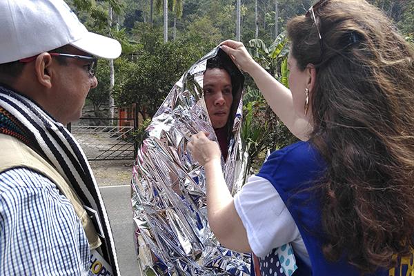 Distributing thermal blanket