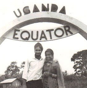 Sirah's parents at the equator in the 1970s